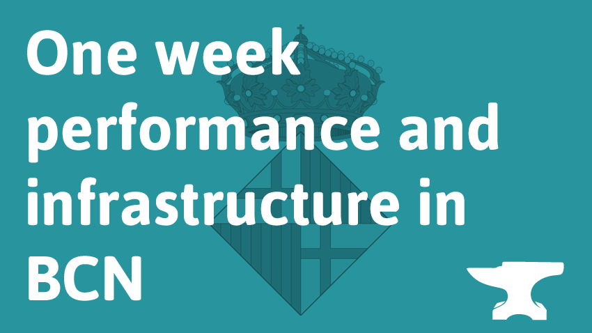One Week Performance and Infrastructure with O'REILLY Velocity, WebPerformanceDays and NoSQL Matters in Barcelona!