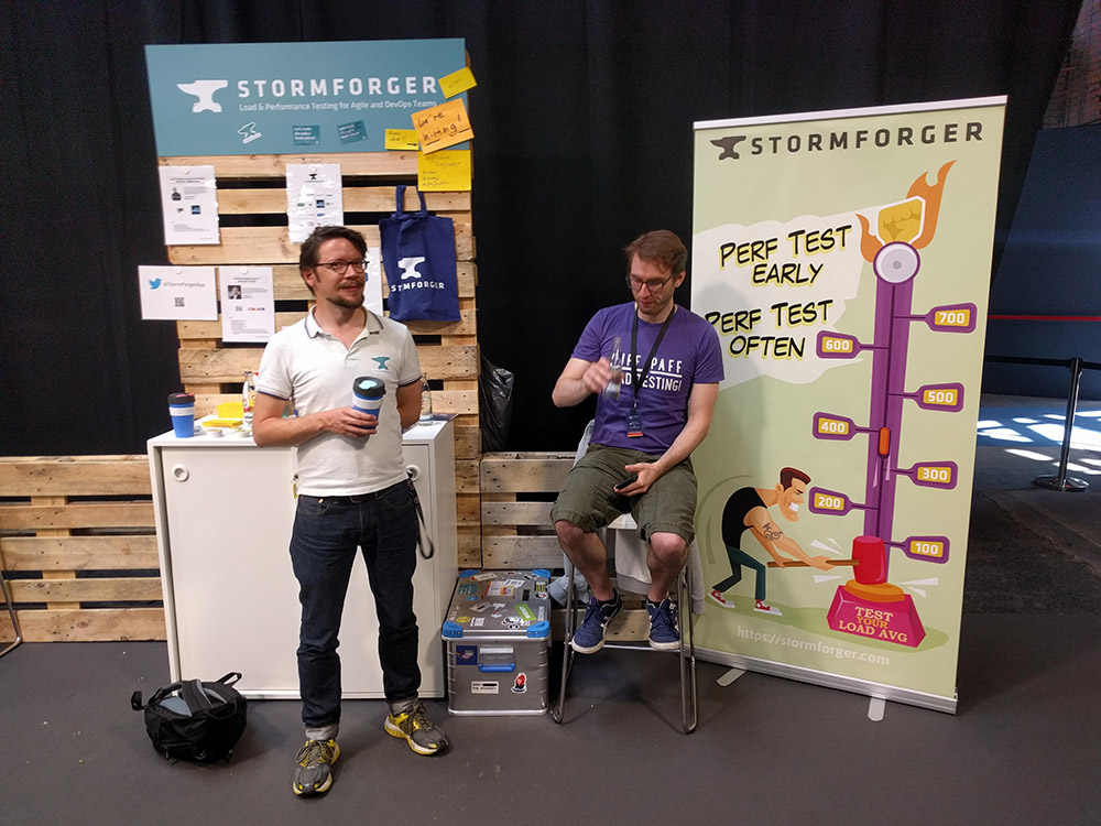 AWS Summit Berlin 2018 StormForger Booth