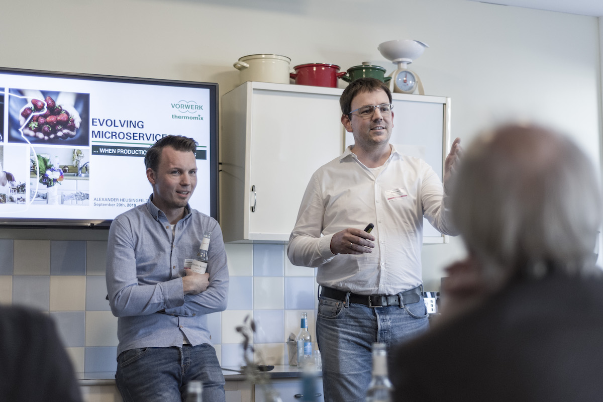 Stefan Motz, Alexander Heusingfeld at StormForger's Customer Success Event 'Enterprise Performance Lab'